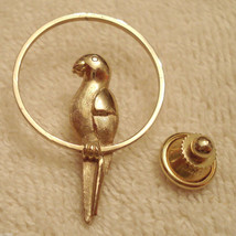 Avon Pretty Parrot Scatter Pin Gold Plated Lapel Brooch Tack Pinback ✿ V... - $19.76