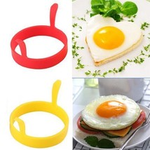 Egg Silicone Pancake Round Heart Mold Ring Fried Breakfast Shaper Funny ... - $7.93 CAD