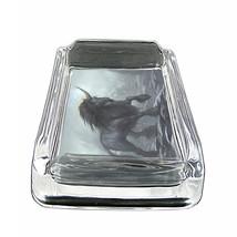 "Unicorns D10 Glass Square Ashtray 4"" x 3"" Smoking Cigarette Mythical Creature - $12.82"