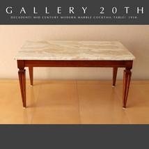 MID CENTURY MARBLE COCKTAIL TABLE! VTG DESIGNER MODERN GIBBINGS ERA EAME... - €1.390,17 EUR