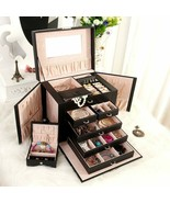 July'sSong® Large Jewelry Box Watch Case Beads Earring Jewelry Armoire S... - $113.97