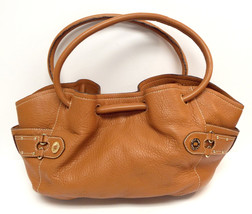COLE HAAN Natural Pebble Grain Leather Satchel ... - $68.00