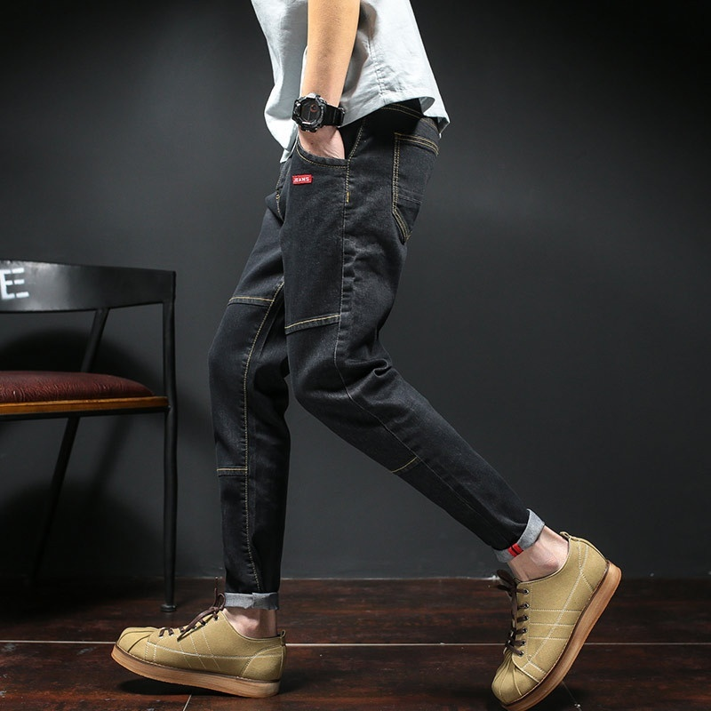 Jeans men's cultivate one's morality and feet
