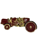 Vintage Firetruck Tie Tack Fireman Old Truck Gold Tone 3DB - $22.00