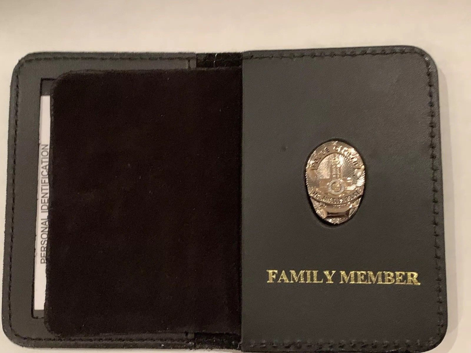 """/'1 INCH/"""" FAMILY MEMBER Police Officer Mini Pin GOLDThin Blue Line Wallet"""