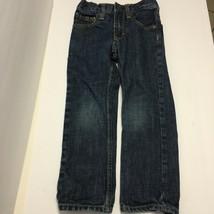 Gap Kids Size 6 Slim Blue Denim Pants Jeans Adjustable Waist - $10.85