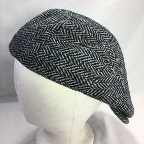DORMAN PACIFIC DPC Gatsby Newsboy Cabbie Hat Cap Herringbone Wool Blend Medium image 5