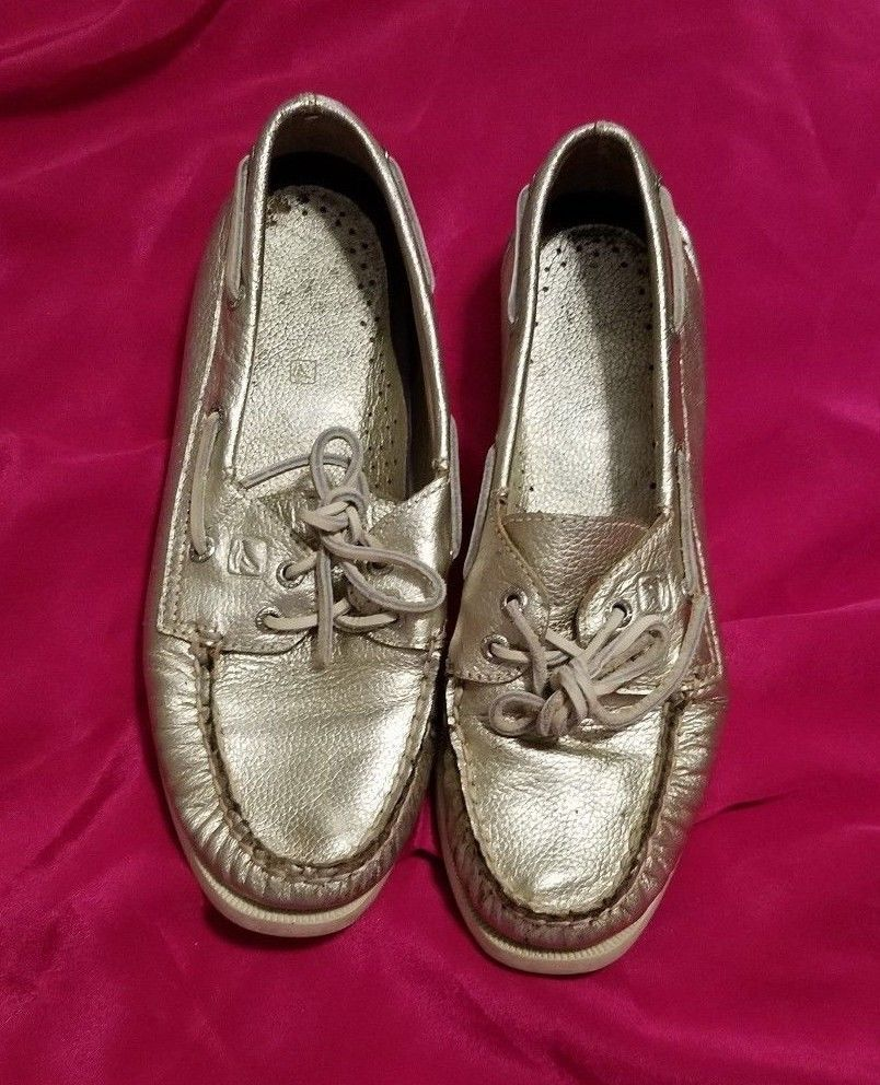 217433f0c78 Sperry Top-Sider Boat Shoes 7.5 M Silver and 50 similar items. 57
