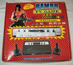 NEW NIB NOS Rambo TV Games Atari 2600 Clone legendary game console 128 Games #08 - $198.00