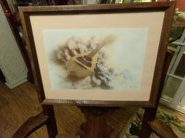 Vintage Wood Frame 15x12 Matted Mandolin & Ballet Shoes Signed Photo Print - $11.75