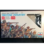 "ESCI/ERTL INDIAN WAR ""KIBER PASS"" 1/72  50 PLASTIC BRITISH INFANTRY 232  - $8.46"