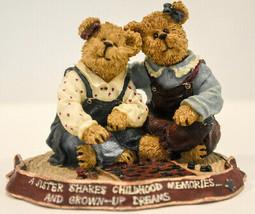 Boyds Bears  Ava & Rae Ann  Rainy Afternoon  Wee Folkstone 2277983 1st E... - $21.77
