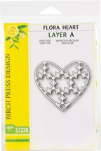 Birch Press Designs Dies-Flora Heart Layer Set - $24.29