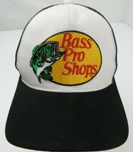 Bass Pro Shops Gone Fishing Trucker Mesh Black Snapback Adult Cap Hat - $14.84