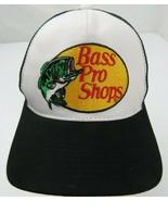 Bass Pro Shops Gone Fishing Trucker Mesh Black Snapback Adult Cap Hat - $14.84