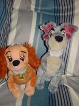 Walt Disney World Lady and Tramp Plush Puppy 2 PC Set - $49.00