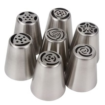 7Pcs/Set Cake Decorating Tips DIY Stainless Steel Cooking Tools Icing Pi... - €5,15 EUR