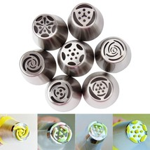 7Pcs/Set Icing Piping Stainless Steel Cooking Tools DIY Cake Decorating ... - €5,15 EUR