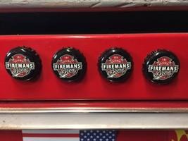 Firemans Brew Beer Cap Magnets, Western, Rednec... - $5.50