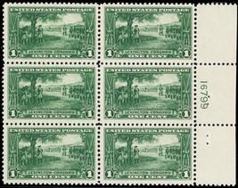 617, Mint VF NH 1¢ Plate Block of Six Stamps Cat $67.50 - Stuart Katz - $45.00