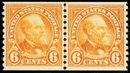 723, Mint VF NH Coil Line Pair 6¢ Garfield Cat $82.50 -- Stuart Katz - $40.00