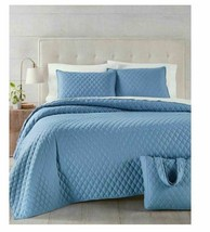 Martha Stewart Essentials Solid 4-Pc. Full/Queen Quilt and Tote Bag Set T4101252 - $47.02