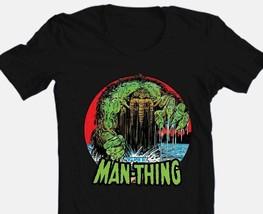 The Man-Thing T-shirt Black Bronze Age Comics comic book superhero cotton tee image 1