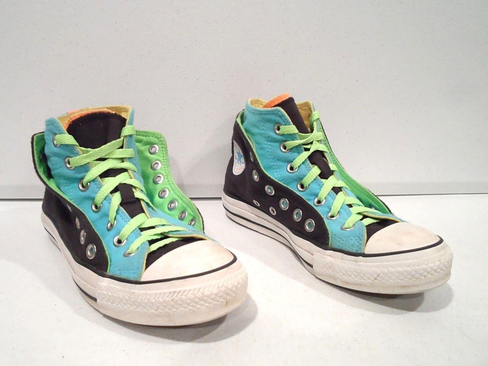 Converse All Star Women's Shoes Sz 7 Black Double Canvas Hi Chuck Taylor  106758F