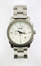 Fossil Chronograph Date Silver 50M Mens Watch FS-4663 - $129.95