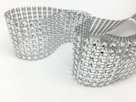 """1.5"""" x 30 FT/10Y Diamond Mesh Wrap Crystal Roll Ribbon Rhinestone Wedding - $5.54"""