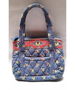 Vera Bradley Handbag Purse Quilted Blue Floral ... - $17.97
