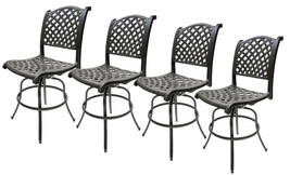 Outdoor Swivel Bar Stools Set of 4 Las Vegas Patio Furniture Sunbrella Cushions image 1