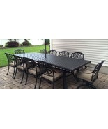Patio dining set Elisabeth 11pc outdoor furniture Cast Aluminum chairs a... - $3,195.00