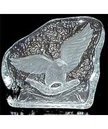 Heavy Carved Clear Glass Eagle Flying Ice Sculpture New - $5.00