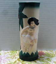 Vintage Harvey's  Tiki Bar Painted Mug Hula Barware Sail With Harveys Nude  - $13.00