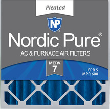 Nordic Pure 20x20x4 (3 5/8) Pleated MERV 7 Air Filters 2 Pack - $34.64
