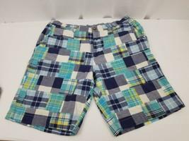 Tommy Hilfiger Mens Shorts Plaid 100% Cotton Flat Front Size 36 Multicolor - $19.34