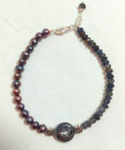 Pearl and iolite bracelet - $15.95