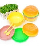 Super Cute Children Hamburger Lunch box. Idel forr Kindergarten - $88,52 MXN