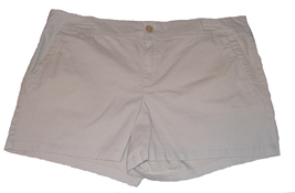 Liz Claiborne Classic Chino Womens Shorts Size 12 Khaki Cotton Flat Fron... - $14.00