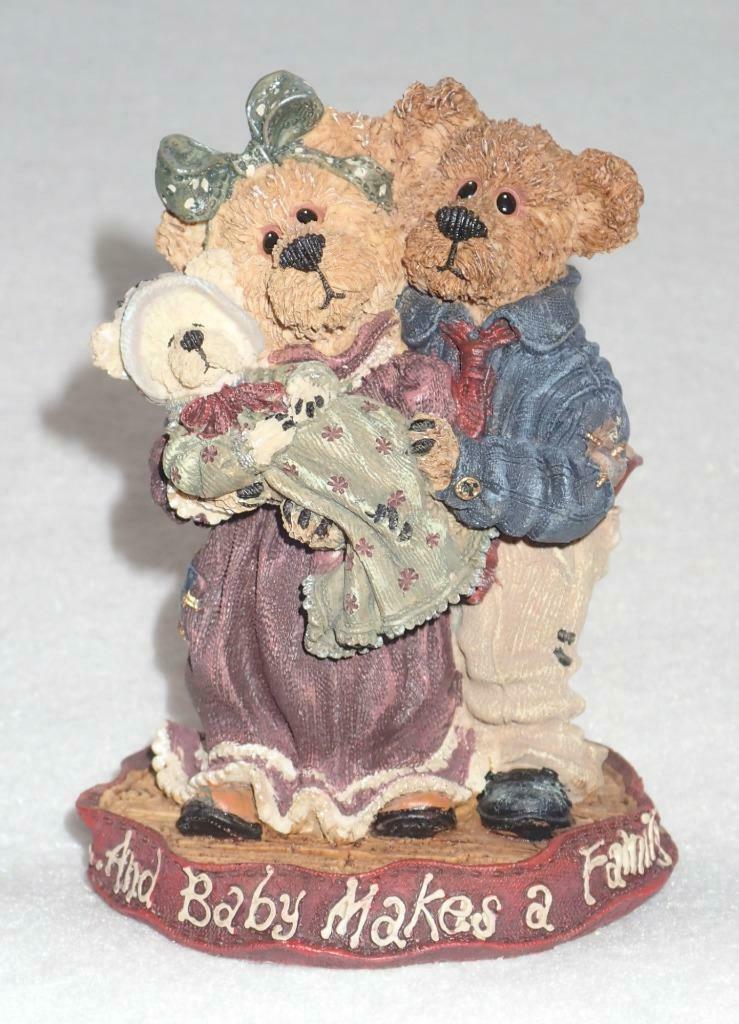 Boyd Bearstone Resin Bears Momma & Papa McNewBear Figurine #227731 8E