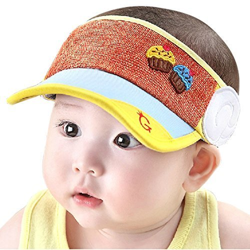 Baby Toddler Sun Protection Hat Infant Cap Without Top 9-36Months(Light Blue)
