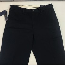 Polo Ralph Lauren Navy Blue Stretch Classic Fit Flat Front Pants Mens 32x32 NWT - $48.98