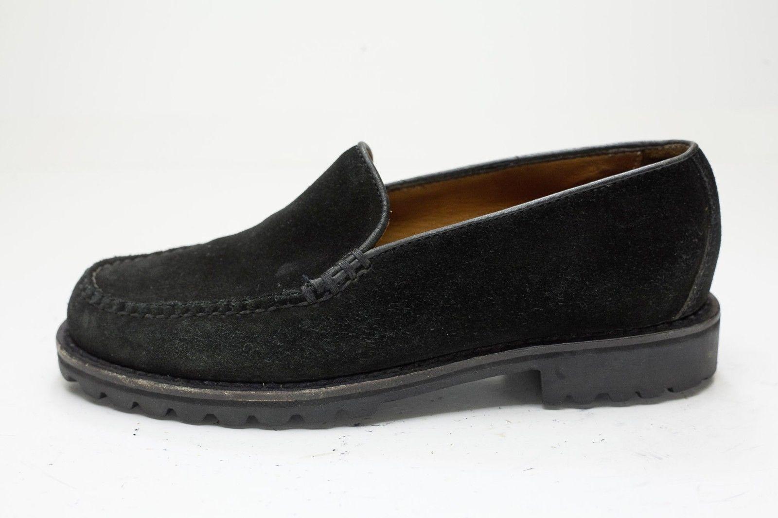 Cole Haan 6 Black Suede Slip On Loafer Women's image 2