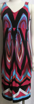 NEW Womens Ladies TRIBAL Black Pink Blue Geometric Sleeveless Stretch Dr... - $21.59