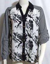 NEW Womens Ladies ALFANI Black & White Floral &... - $13.50