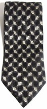 NEW Mens BARRINGTON 100% Silk Black Gold & Silver Abstract Geometric Nec... - $8.10