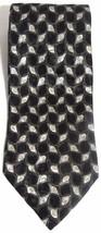 NEW Mens BARRINGTON 100% Silk Black Gold & Silver Abstract Geometric Nec... - $8.10