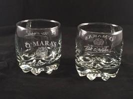 Pair(2) O'MARA'S Irish Country Cream Liquor~Pat O'Mara Bar Rocks Glasses... - $14.80