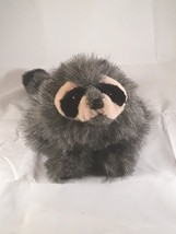 "RACCOON BABY HAND PUPPET # 2238 ~ 10"" long ~ Folkmanis Puppets ~ EUC Sof... - $12.86"